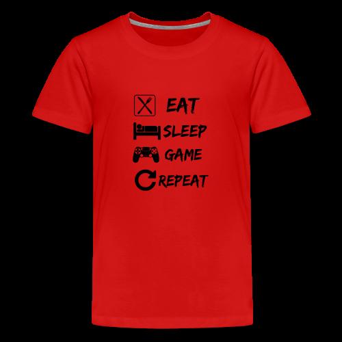 Eat_Sleep_Game_Repeat - Teenage Premium T-Shirt