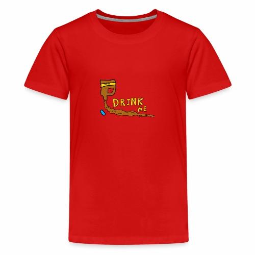 Chocolate Bleach Drink Me - Teenage Premium T-Shirt