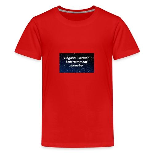 english german entertainment Industry logo - Teenager Premium T-Shirt