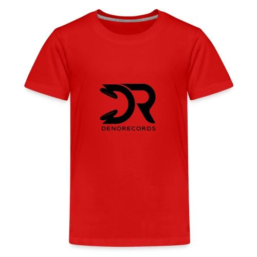 Denorecords Black Png - Teenager Premium T-Shirt