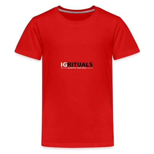 ig rituals text black and white - Teenage Premium T-Shirt