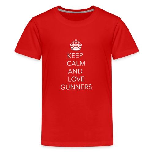 TemplateTShirts 1 Gunners - Teenage Premium T-Shirt