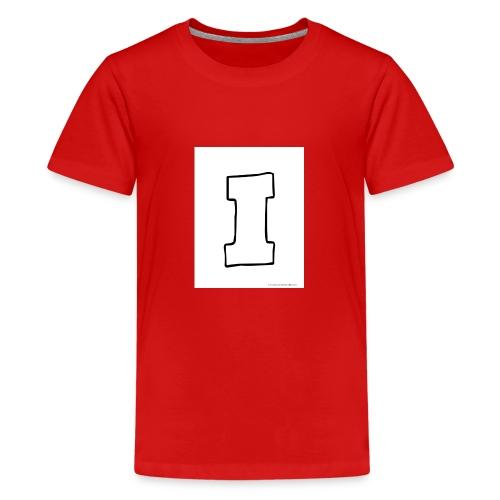Isaac The Letter I - Teenage Premium T-Shirt