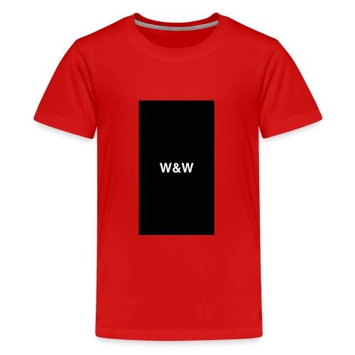 W&W Logo - Teenage Premium T-Shirt