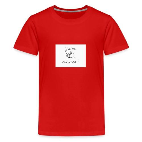 Gymn avec Christine - T-shirt Premium Ado