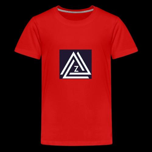 Blue Zovin Logo - Teenage Premium T-Shirt