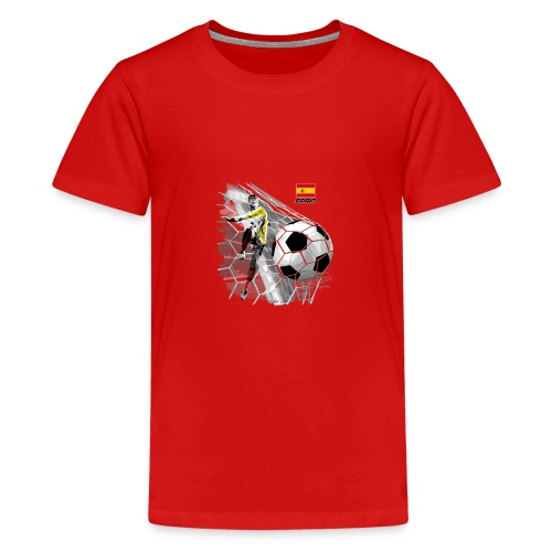 GP22F-02 SPAIN FOOTBALL PRODUCTS - Espanya fútbol - Teinien premium t-paita