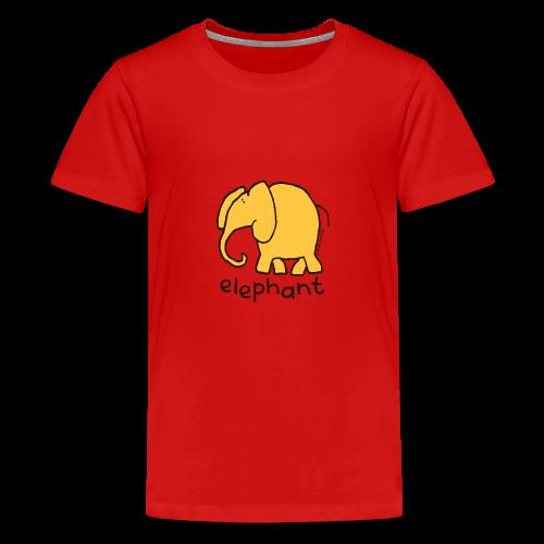 'elephant' - Bang on the door - Teenage Premium T-Shirt