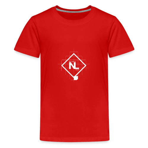 No Limits Logo Weiß - Teenager Premium T-Shirt