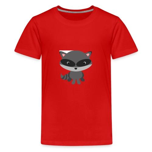 Cooler Waschbär für verspielte Kinder - Teenager Premium T-Shirt