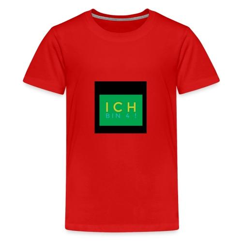 IMG 0270 Ich bin 4 - Teenager Premium T-Shirt