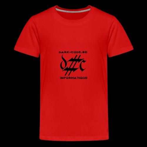 Dark-Code Black Gothic Logo - T-shirt Premium Ado
