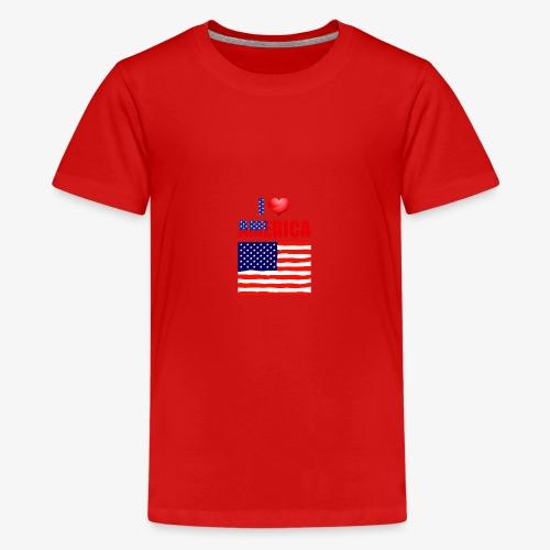 I LOVE AMERICA - Teenager Premium T-Shirt