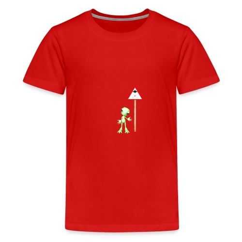 Achtung Alien Entführung - Teenager Premium T-Shirt
