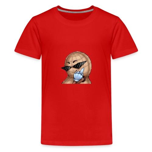 Mittelfinger Nuss - Teenager Premium T-Shirt