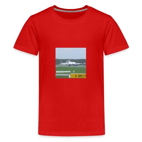 Germanwings A319 after landing - Teenager Premium T-Shirt