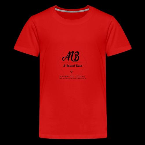 Beard Oil | Oliva Logo - Teenager Premium T-Shirt