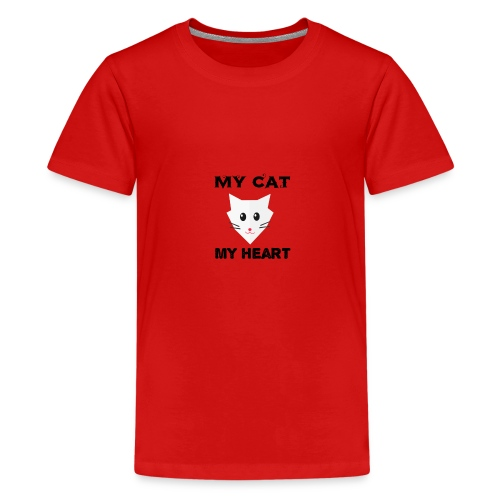 my cat my heart - T-shirt Premium Ado