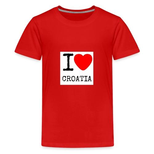 I love croatia - Teenager Premium T-Shirt