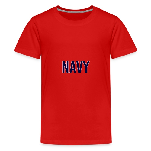 NAVY - Navy Blue - Teenage Premium T-Shirt