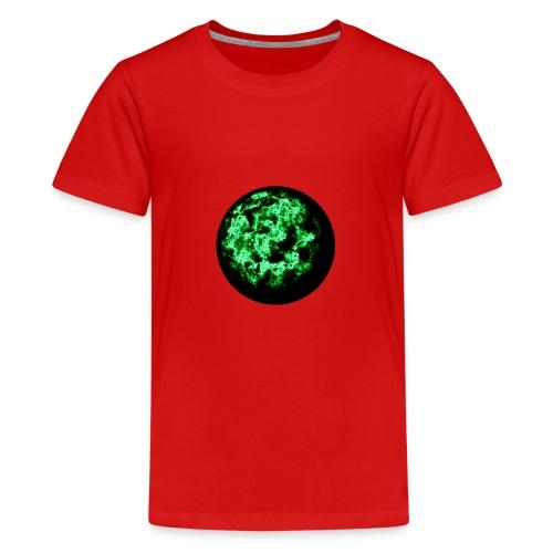 Grüne Feuerkugel - Teenager Premium T-Shirt
