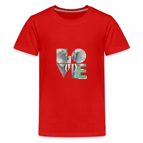 Elefant der Liebe - Teenager Premium T-Shirt