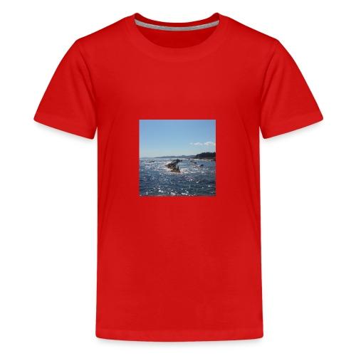Mer avec roches - T-shirt Premium Ado