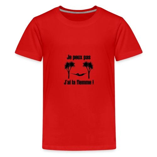je peux pas je suis de repos - T-shirt Premium Ado