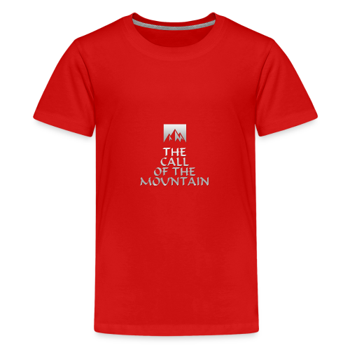 The Call Of The Mountain - silver - Teenage Premium T-Shirt