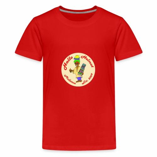 Hallo Helmut Est. 2009 Logo 2 - Teenager Premium T-Shirt