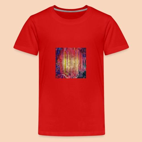 Abstraktes Kunst-Design 2714 by Todd Wichert - Teenager Premium T-Shirt