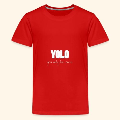 YOLO - white -1 - Teenager Premium T-Shirt