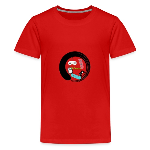 G Games Logo New - Teenage Premium T-Shirt