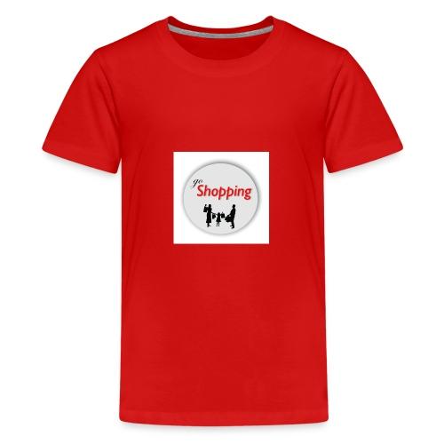 logo go shopping - Camiseta premium adolescente