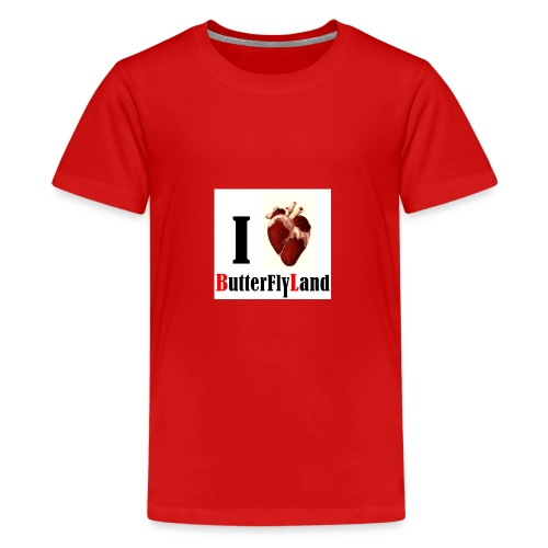I love Butterflyland - T-shirt Premium Ado