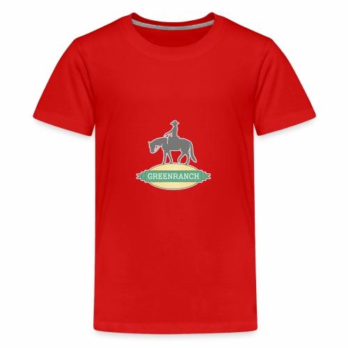 Greenranch Logo mit weissem Rand - Teenager Premium T-Shirt