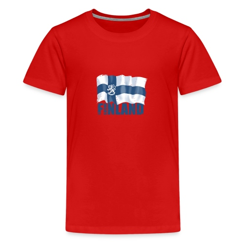01-SUOMI LEIJONALIPPU - FINLAND LION FLAG - Teinien premium t-paita