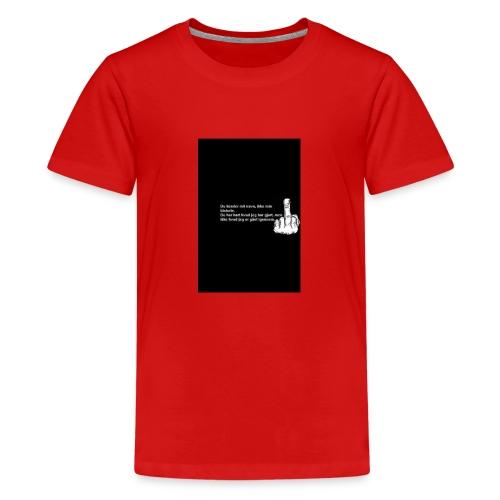 du kender mig ikke - Teenager premium T-shirt