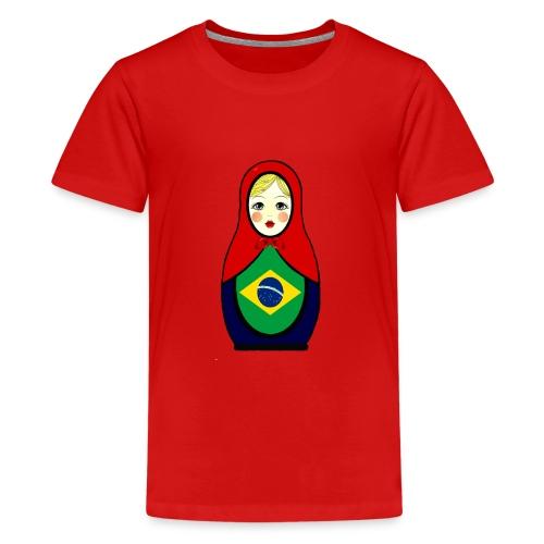 Brasilien Matrjoschka Brazil Matroschka - Teenager Premium T-Shirt