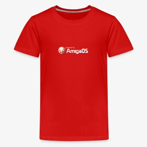 poweredByAmigaOS weiß - Teenage Premium T-Shirt
