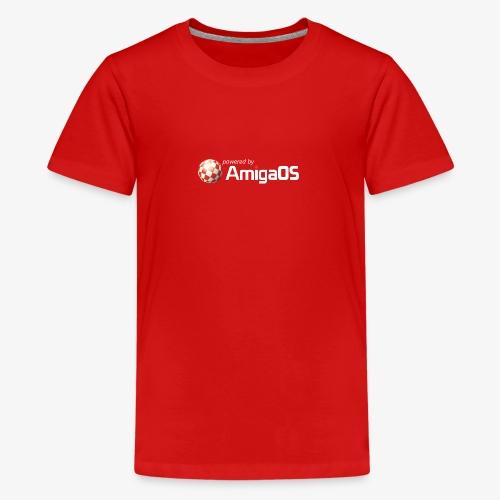 poweredByAmigaOS weiß - Teenager Premium T-Shirt