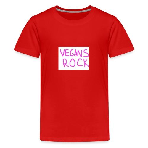 VEGANS ROCK - Teenage Premium T-Shirt
