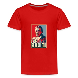 Sir Ernest Shackleton (red, white & blue colours) - Teenage Premium T-Shirt