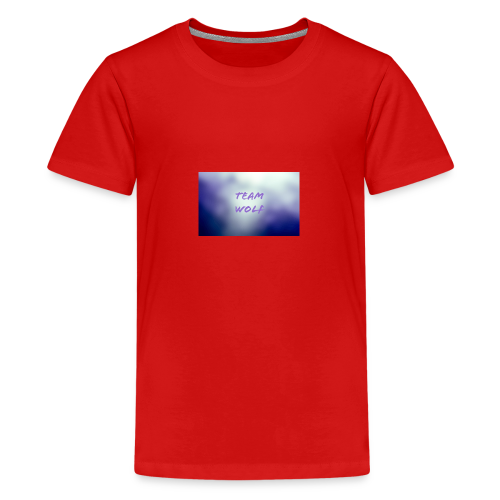 Team Wolf Box - Teenage Premium T-Shirt