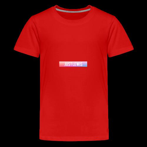 Just Lewis Box Logo - Teenage Premium T-Shirt