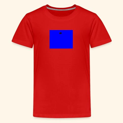 pucci blue background logo - Teenager premium T-shirt