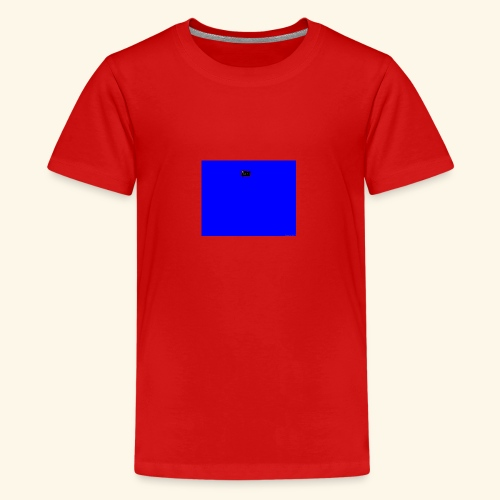 pucci blue background logo - Teenager premium T-shirt