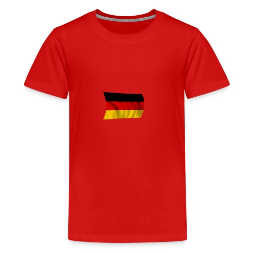 Deutsche Flagge T-Shirt - Teenager Premium T-Shirt