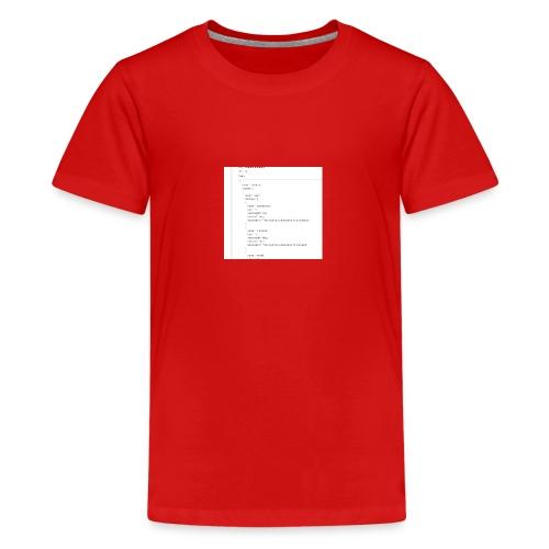 add01 - Teenager Premium T-Shirt