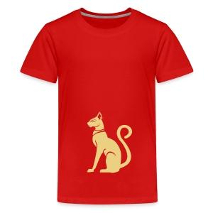 Bastet - Katzengöttin im alten Ägypten - Teenager Premium T-Shirt